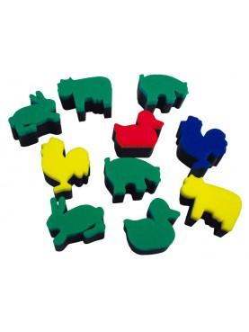 Esponjas de impresión de animales de la granja