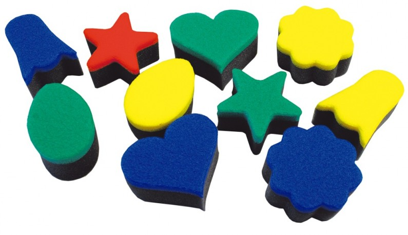 Shapes printing sponges