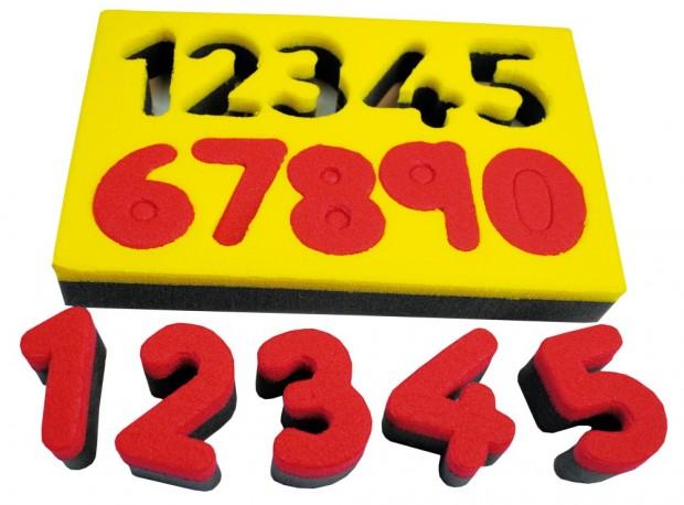 Number printing sponges