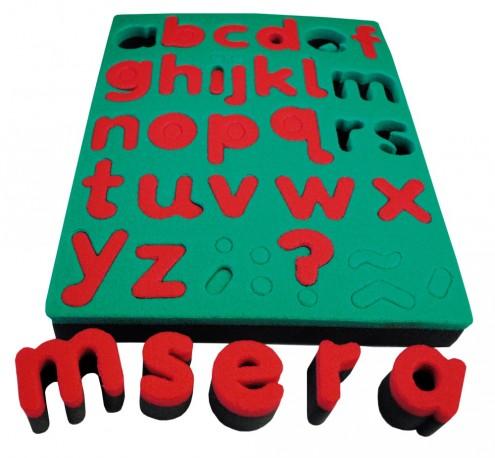 Éponges Alphabet minuscules