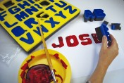 Lowercase Letter printing sponges