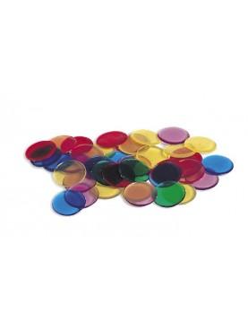 Bunte transparente Chips