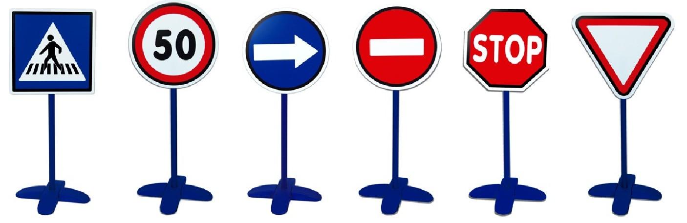 Jeune Panneaux de signalisation avec pôle ⭐ Apprenez la sécurité routière SE-85