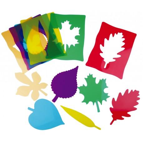 Siluetas de hojas Montessori