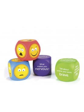 Emoji Cubes with English Questions