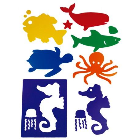 Plantillas Henbea. Animales del mar