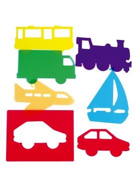 Plantillas Educativas Traslúcidas: Transportes