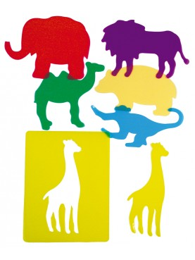 "Translucent stencils ""Zoo animals"""