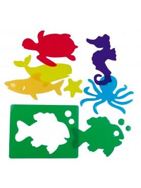 Pochoirs d'animaux marins Translucid