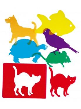 Plantillas Educativas Traslúcidas: Mascotas