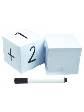 2 Blank Dice + marker