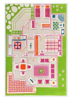 Alfombra 3D: Casa de Muñecas