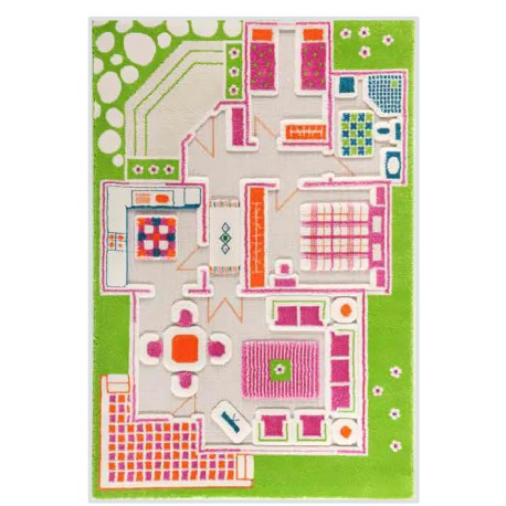 3D Carpet: Play House Green