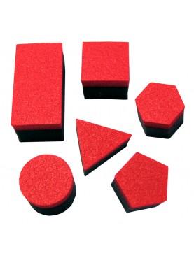 Éponges figures géométriques