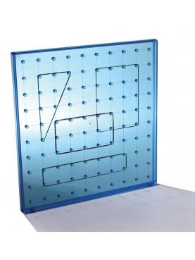 Geoplane carré translucide