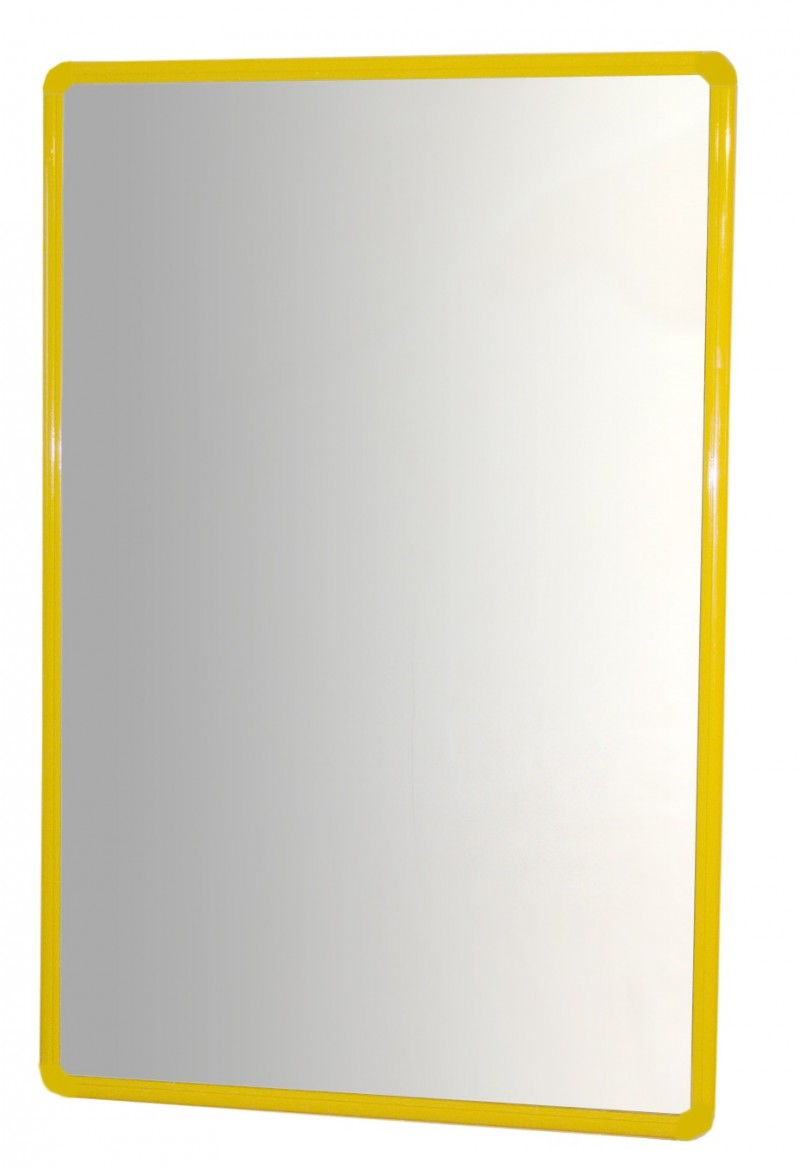 Miroir avec cadre en aluminium 100x65 cm snap edulink s l for Miroir avec cadre miroir