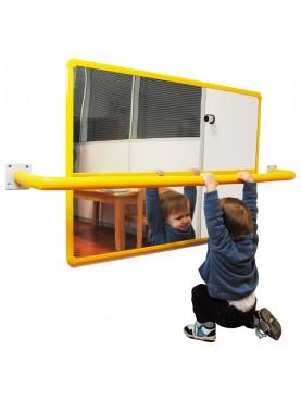 Espejo acrílico de seguridad con marco de aluminio (100x65cm)