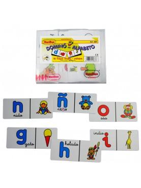 Dominó alfabeto.